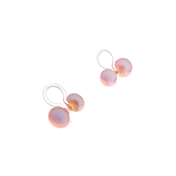 Clip-on Double Pearl - Pink