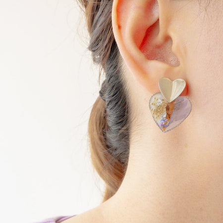 Double Love Dream Resin Earrings