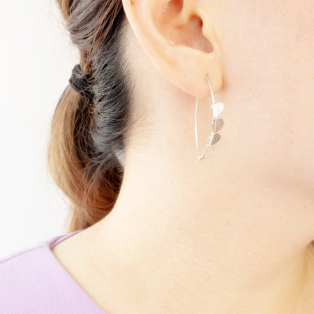 Love Pull Through Hoop Earrings, Earrings - Blaack Fox