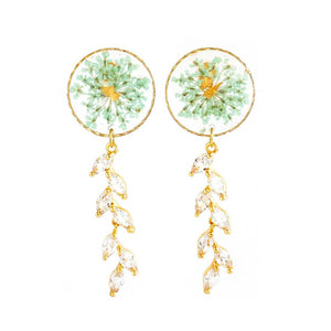 Florela Resin Drop Earrings - Mint