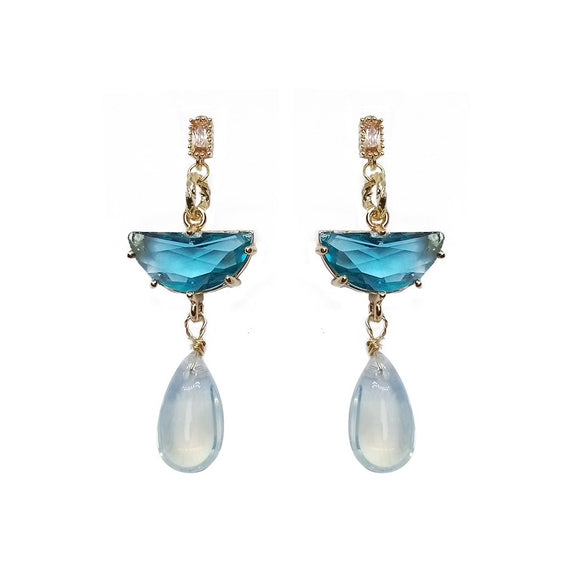 Sapphire Tear Earrings - Tiffany