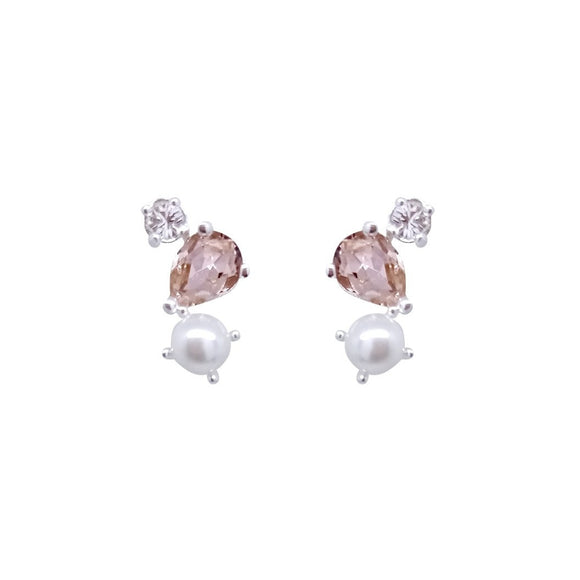 Peachy Swarovski Earrings