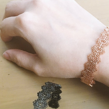 Lace Bangle - Chrome, Bracelet - Blaack Fox