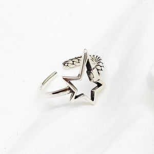 Uneven Star Adjustable Ring