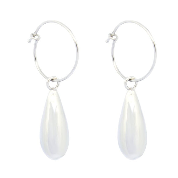 Waterdrop Earrings -  Silver
