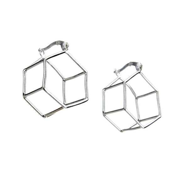Hexagon Hoop Earrings, Earrings - Blaack Fox