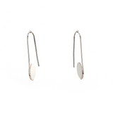 Circle Pull Through Hoop Earrings, Earrings - Blaack Fox
