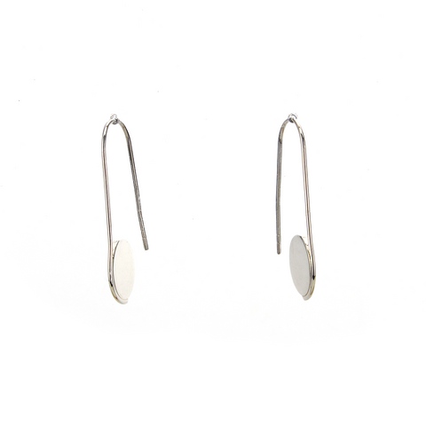 Circle Pull Through Hoop Earrings - Blaack Fox