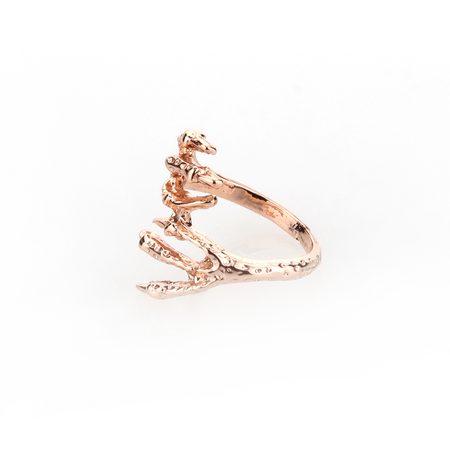 Viserion Ring - Rose Gold - Blaack Fox