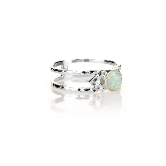 Opal Stone Indent Ring, Rings - Blaack Fox