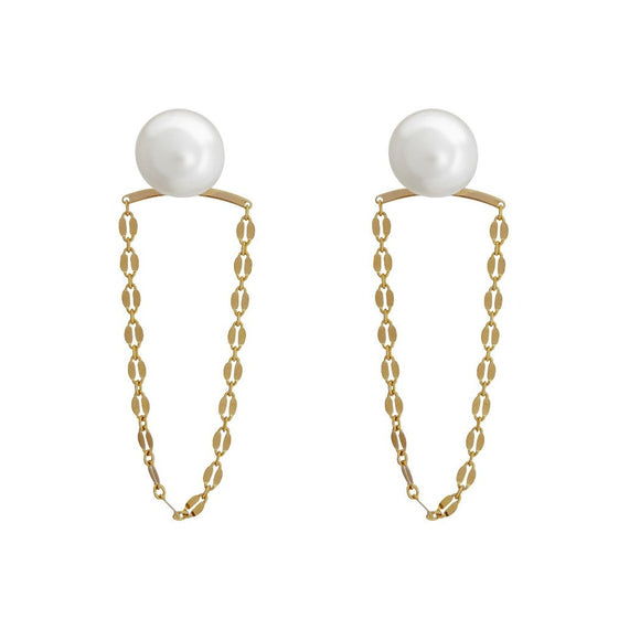 Pearly Swing Earrings - Gold