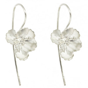 Peony Pull Through Earrings, Earrings - Blaack Fox