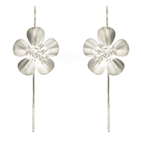 Statement Geranium Pull Through Earrings