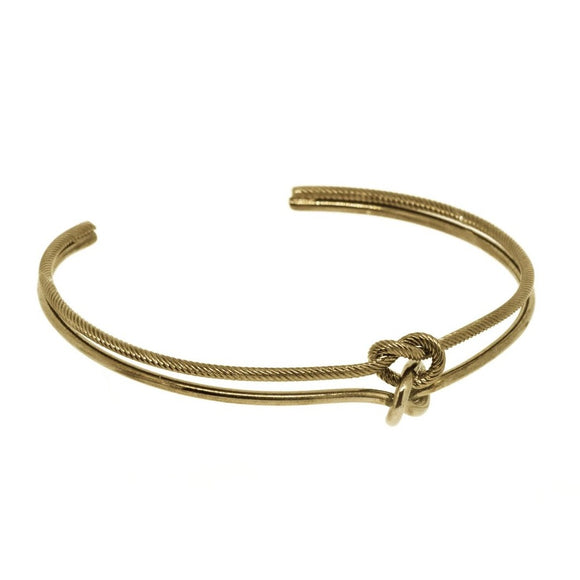 Tie The Knot Bangle - Cafe Silver