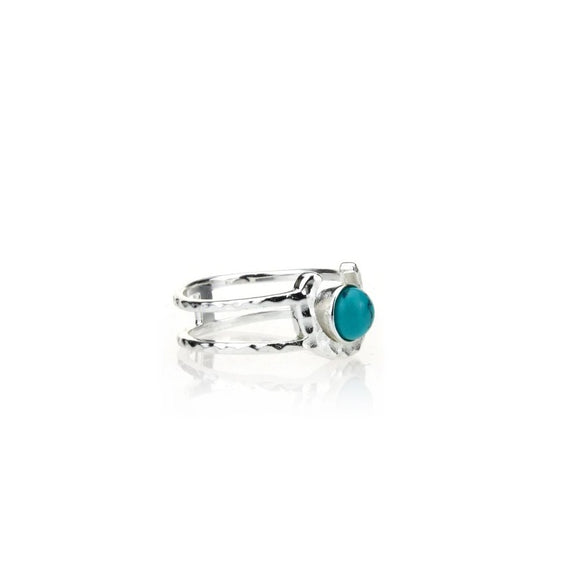 Turquoise U Ring, Rings - Blaack Fox