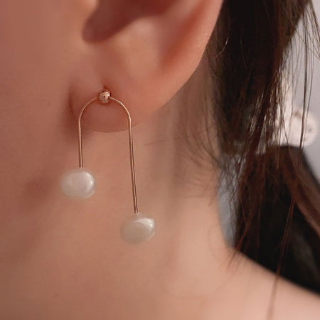 Twinny Pearl Earrings - Rose Gold