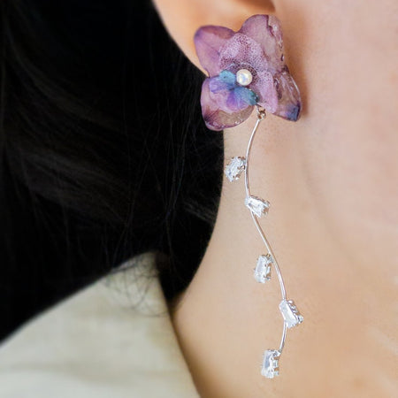 Romance Earrings - Plum/Silver