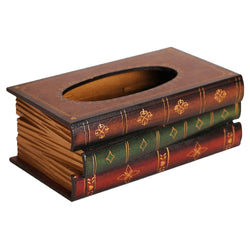 Retro Style Book Shape Tissue Box