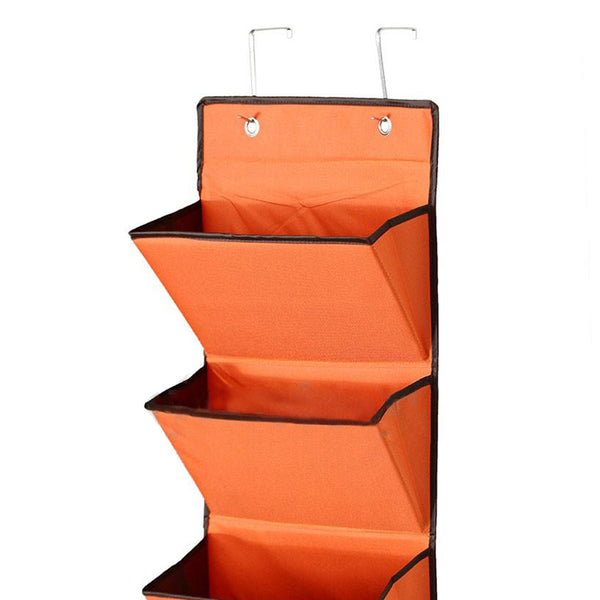 4 Tier Wall Door Hanging Organiser Storage Rack Bag Cloth Wardobe Shoe Pocket