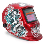 Welding Mask Helmet Solar Automatic Welding (Use Solar Energy for Refill) Spider web Protective Accessory