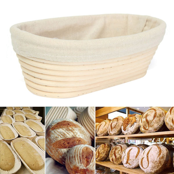 25cm Oval Rattan Cane Bread Proofing Liner Basket Durable for DIY Handmade Bread