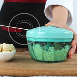 Manual Food Chopper Pull String Hand Held Veggie Processor to Chop Fruit, Vegetable and so on
