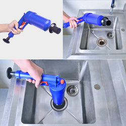 Air Power Drain Blaster gun High Pressure Powerful Manual sink Plunger Opener cleaner pump for Bath Toilets Bathroom Shower kitchen Clogged Pipe Bathtub