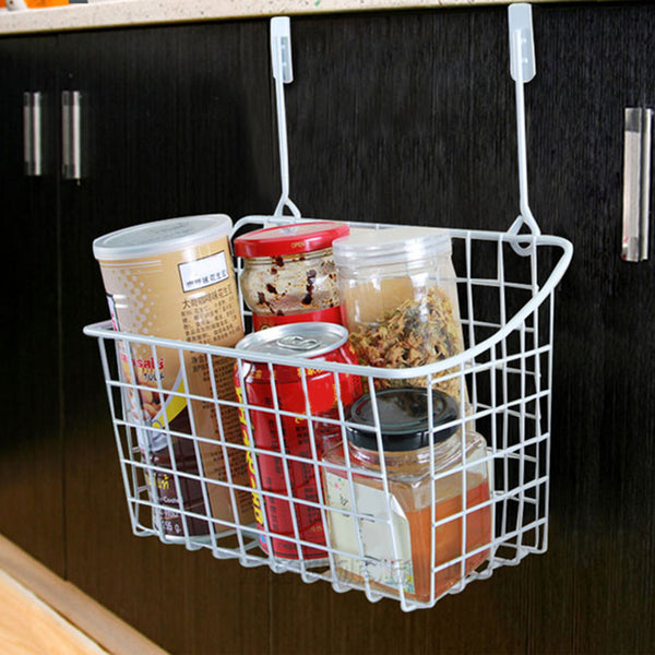 Door Storage Basket Practical Kitchen Cabinet Drawer Organizer Door Hanger Storage Basket With The Hook