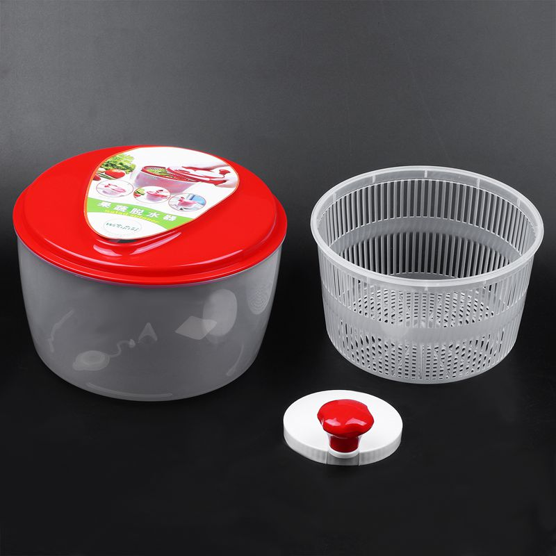 Weryary Salad Dryer Vegetable Fruit Drain basket Dehydrator Shake Water Basket Multifunction Kitchen Mix Salad Tools