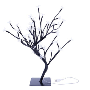 18 Inch Cherry Blossom Bonsai Tree, 48 LED Lights, Warm White Lights, Ideal as Night Lights, Home Gift Idea