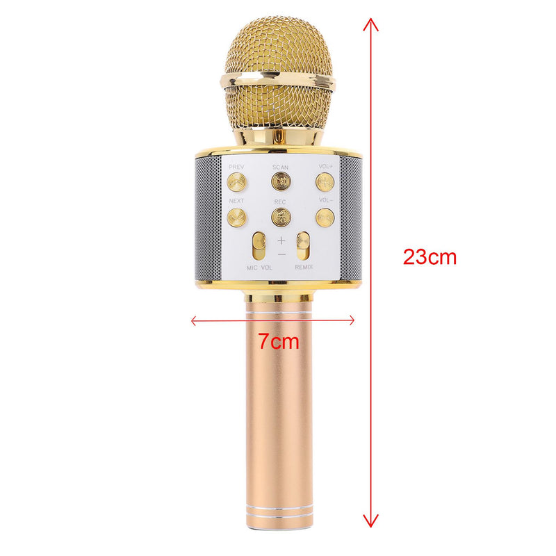 Handheld Bluetooth Wireless Karaoke Microphone Phone Player MIC Speaker Record Music KTV Microphone