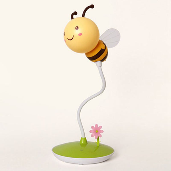 LED Bee Night Light 5VUSB Charge Touching Table Lamp Dimmable Baby Feeding Sleeping Bedroom Night Light Home Decor Creative Gift Yellow
