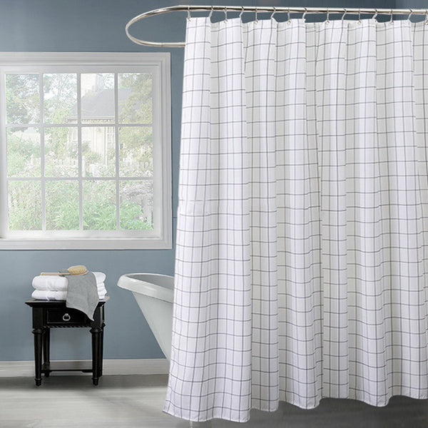 Fabric Polyester Classic Black White Plaid Waterproof Shower Curtains Thicken fabric Bathroom Shower Curtains