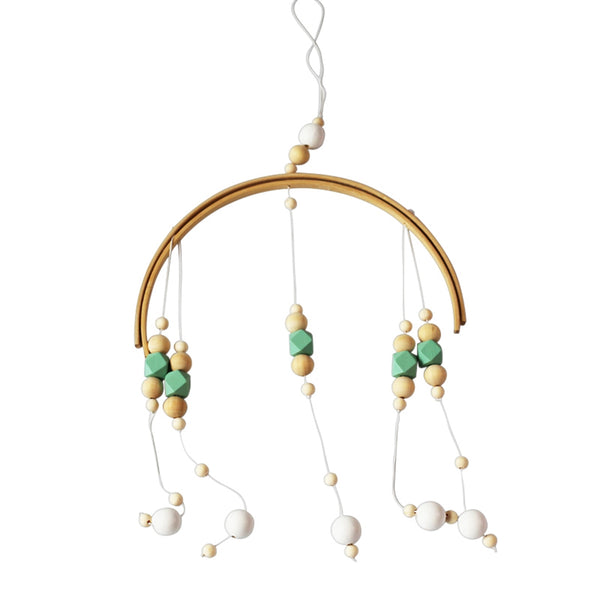 Green home wooden bead wind bell baby crib children room decoration gift model room children's clothing store photography props