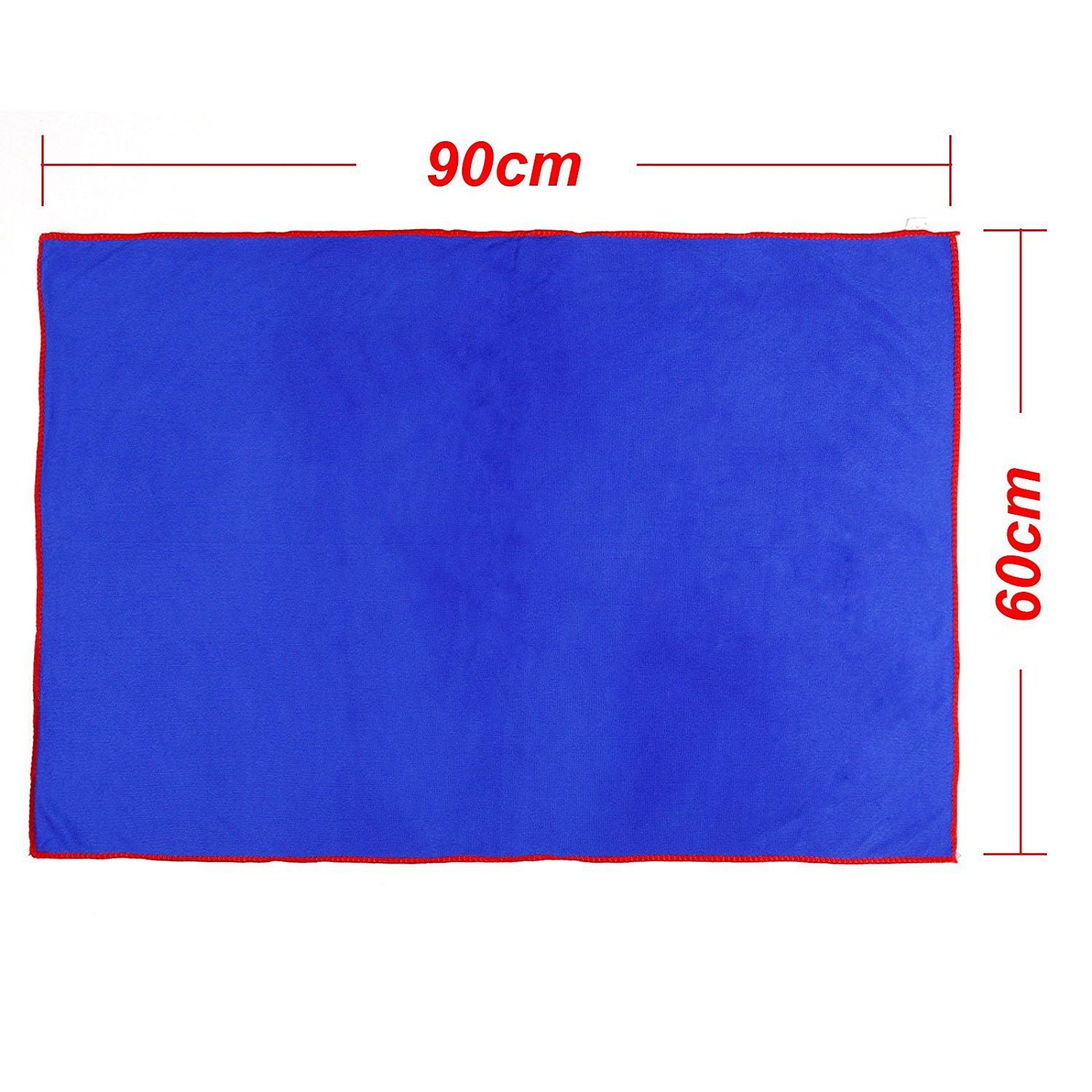 5 x Towel Cleaning cloth Cleaning car furniture home window Blue 90 x 60 cm