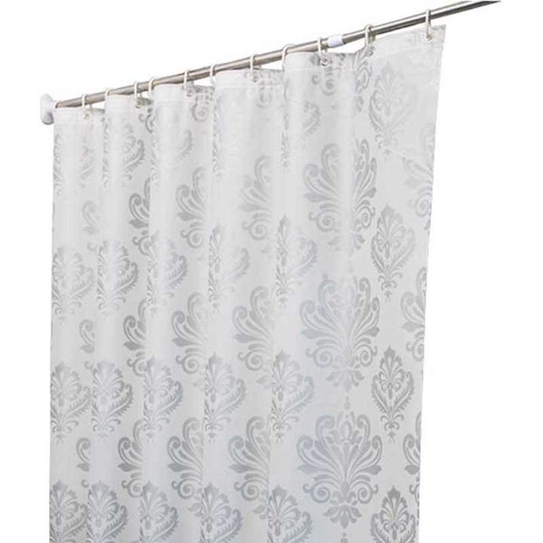 Europe White PEVA Bath Curtains Flower Eco-friendly Waterproof Shower Curtain Bathroom