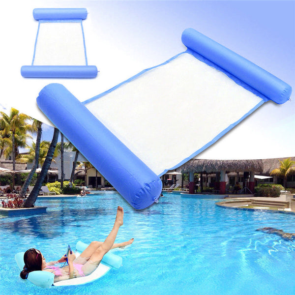 Swimming Pool Water Hammock Floating Chair Floating Bed PVC blue