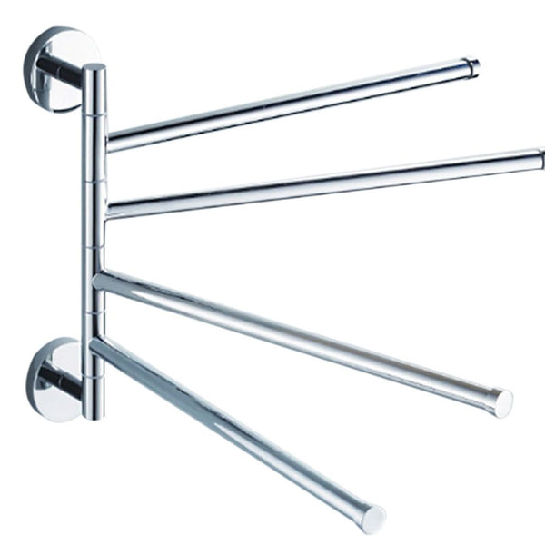 New 4 Layers Stainless Steel Bathroom Towel Rack Holder Polished Rack Holder Hardware Accessory Bathroom Haing Organizer