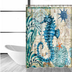 Sea Turtle Waterproof Shower Curtain Octopus Home Bathroom Curtains with 12 Hooks Polyester Fabric Bath Curtain