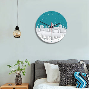 European creative children's room decorative wall clock Living room bedroom acrylic printed clocks
