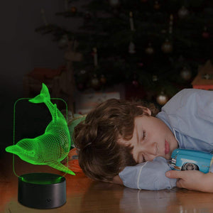 Kids Night Light Animal Dolphin 7 Colors Change with Remote Control Gifts for Kids or Animal Lover Gift Ideas by (Dolphin)