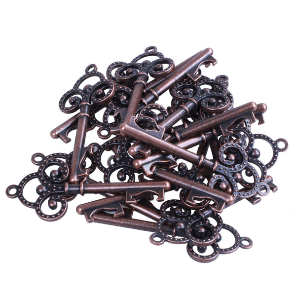 20x Extra Large Key Shape Bottle Openers Antique Copper Skeleton Keys