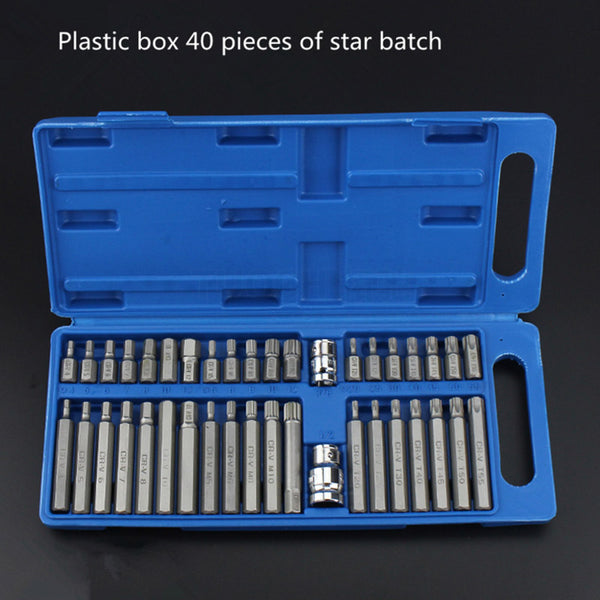 40pcs/Set Torx Inner Hexagonal Star Batch Wrenches Set Multifunctional combination tools sets car Household Hand Tool Kits Set