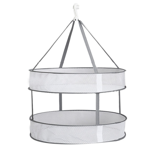 Balcony Clothes basket garden drying clothes basket clothesline tiled drying Socks underwear racks net pocket, 2 Layer