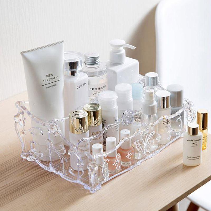Makeup Organizer for Cosmetics Storage Box Rack Make Up transparent Boxes lipstick nail polish brush holder for dressing table