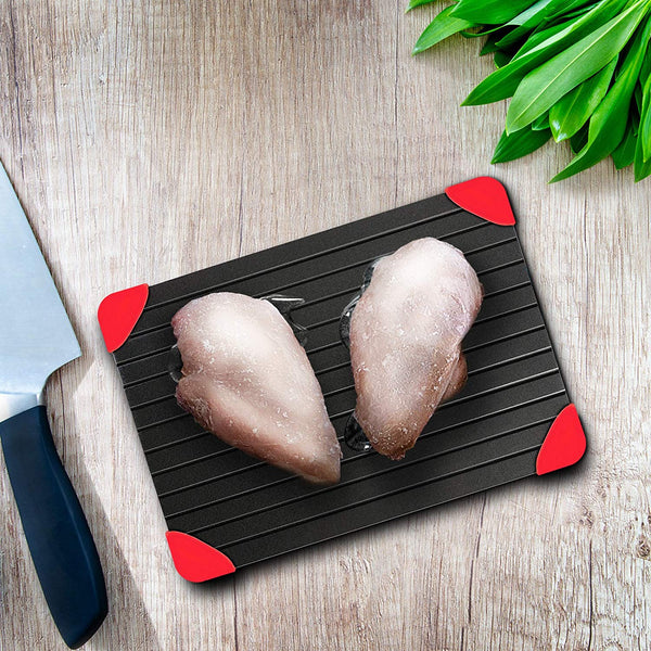 Defrosting Tray: (LARGEST SIZE) The Safest, Way for Thawing Meat, Chicken, Fish, freeze Food - No Need for Electricity or Hot Water