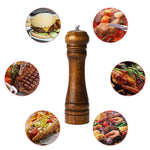 Pepper Grinder Pepper Mill Solid wood with strong adjustable ceramic grinder 8 Inch