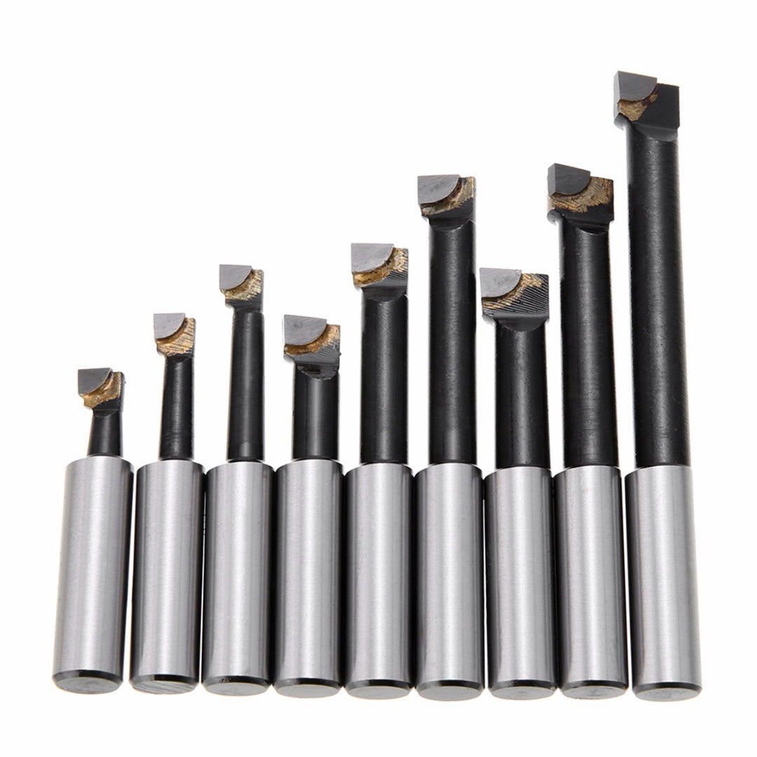 9Pcs Durable Hard Alloy Shank Boring Bar Set Carbide Tipped Bars 12Mm For 2 Inch 50Mm Boring Head For Lathe Milling Mayitr