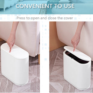 Pressing Type Plastic Trash Can Garbage Bin Waste Rubbish Dustbin For Home Trash Can Waste Bins Household Cleaning