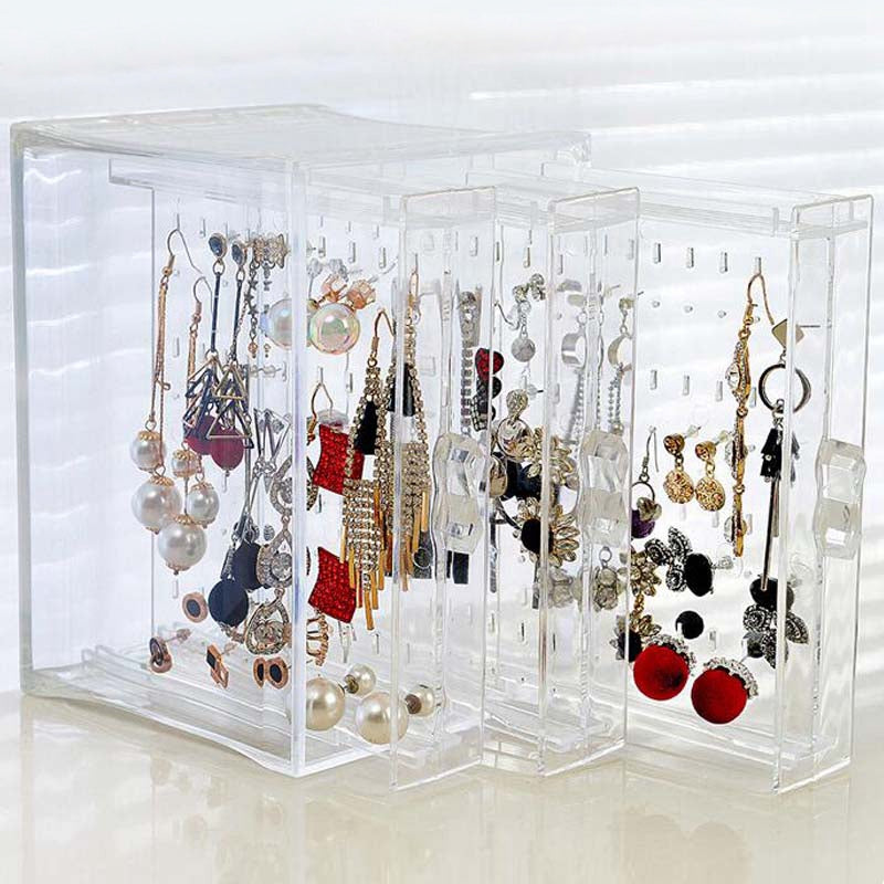 New Fashion Jewelry Display Holds Up Earrings Earring Holder And Jewelry Organizer Earring Showcase Stand Box